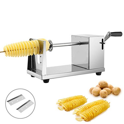 Manual Stainless Steel Spiral Slicer Potato Twisted French Fry Vegetable Cutter make spiral potato for your wonderful BBQ experience - Waffle Fry Costume
