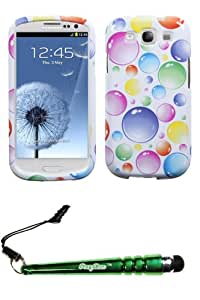FoxyCase(TM) FREE stylus AND SAMSUNG Galaxy S III (i747 L710 T999 i535 R530 i9300) Rainbow Bigger Bubbles Phone Protector Cover cas couverture