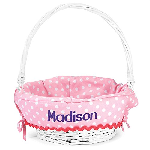 Lillian Vernon Personalized Pink Easter Basket for Girls, 11