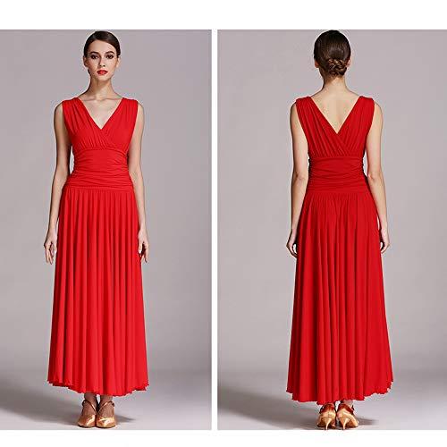 Ballo Sala Plus Dress Profondo Dance In Di Size Xl 2xl Ventre Danza Classica Latin Costumi collo Da V Del Ztxy Gonna Fibra Rosso Donna Prom Latte qATz4xwHRH