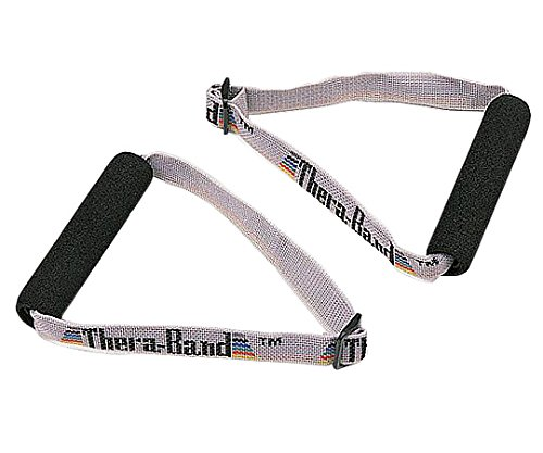 TheraBand Soft Handles Pair, Accessories for Elastic Resistance Bands & Tubes, Exercise Equipment for Home Gym Workout, Overhead Strength Training, Stretching, Use with Over The Door Anchor