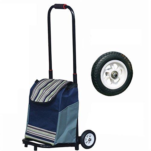 Medium Weight Trolley - ZJⓇ Hand Cart Folding Portable Luggage Cart Trolley Carts Hand Truck Trolley Medium Rubber High-Elasticity Wheels Telescopic Load 50 Kg && (Color : B)