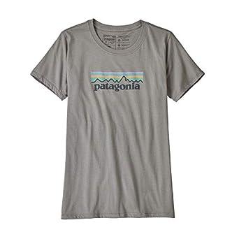Patagonia L/S P-6 Logo Responsibili Camiseta, Hombre, Blanco, M amazon gris