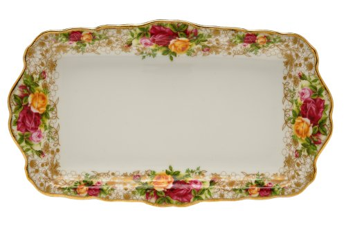 Royal Albert Old Country Roses Lace Sandwich Tray - Rose Sandwich Tray