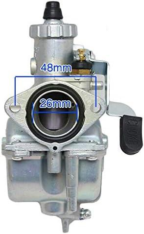 VM22 26m Carburetor with Air Filter for Intake Pipe Pit Dirt Bike Motorcycle 110cc 125cc 140cc Lifan YX Zongshen Pit Dirt Bike CRF70 XR50 KLX BBR Apollo Thumpstar Braaap Atomic DHZ SSR