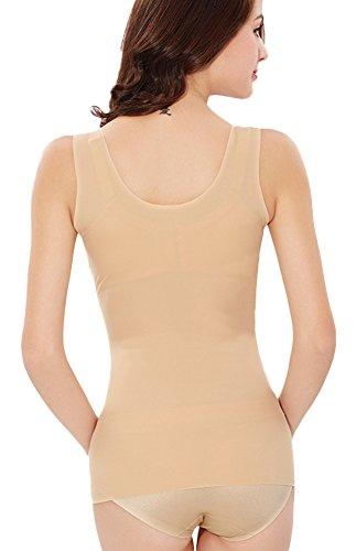 Insun - Camiseta moldeadora - para mujer color carne