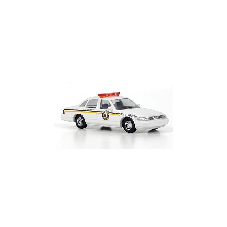 Ford Crown Victoria, North Dakota State Patrol, Model Car, Ready made, Busch 187