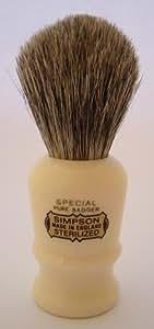 Simpson Shaving Brushes Special B Best S1 - Brocha de afeitar de pelo de tejón, hecha a mano en el Reino Unido