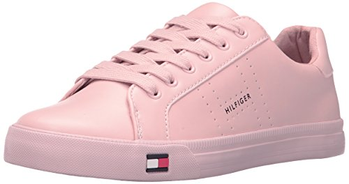 (Tommy Hilfiger Women's Luster Sneaker, Blush, 9.5 Medium US)