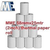 MM Enterprises 58MMx25Mtr(2Inch) Thermal Paper roll (Set of 10 Rolls)