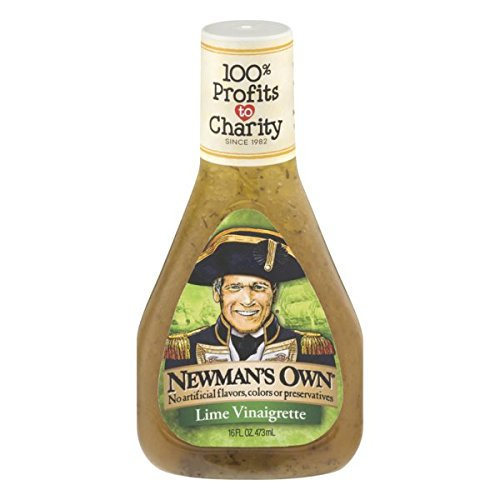 Newman's Own Salad Dressing, Lime Vinaigrette, 16 Ounce