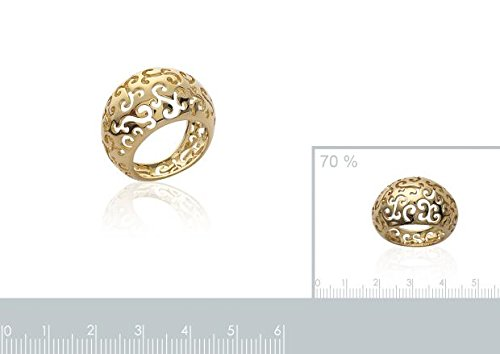 ISADY - Shae Gold Rond - Bague Femme - Plaqué Or 750/000 (18 carats)