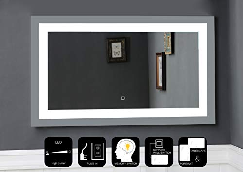 JOVOL LED Lighted Bathroom Mirror\ Wall Mounted Vanity Mirror with High Lumen - Bathroom Installation Mirrors