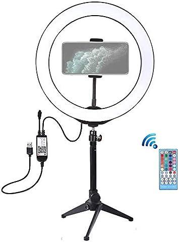 Ringlicht Mit Stativ Puluz 10 2 Rgbw Dimmbare Kamera