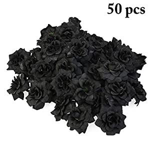 JUSTDOLIFE 50PCS Artificial Roses Elegant Fake Flowers Simulation Flowers Bouquet Roses 108