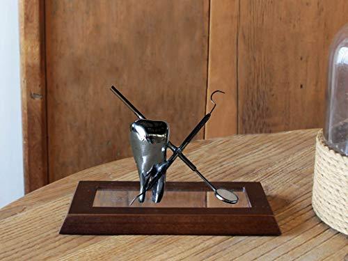 Escultura de Mesa, Dente para Consultório Odontológico, Imbuia, Sarquis Samara