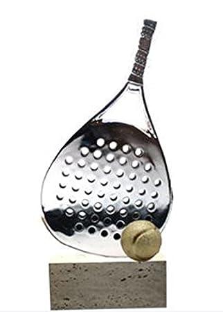 Trofeo Padel de Resina y Marmol 43cm GRABADO Trofesport Trofeos PERSONALIZADOS: Amazon.es: Deportes y aire libre