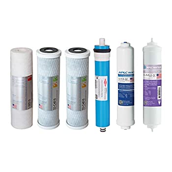 Image of APEC FILTER-MAX-PH US MADE 90 GPD Complete Replacement Set for ULTIMATE Series Alkaline Reverse Osmosis Water Filter System