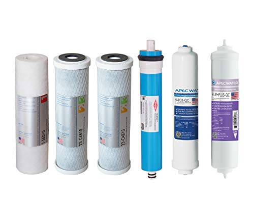 APEC FILTER-MAX-PH US MADE 90 GPD Complete Replacement Set for ULTIMATE Series Alkaline Reverse Osmosis Water Filter System (All Of Us Complete Series)