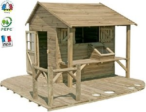 maisonnette chalet cabane enfants en bois - Maison De Jardin Enfant En Bois