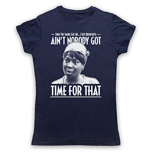 Sweet Brown Ain't Nobody Got Time For That Camiseta para Mujer Azul Marino