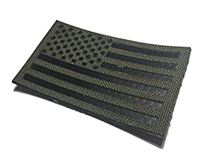 3.5x2 Inch Infrared Ranger Green Ir reflective Us Flag Morale Patch