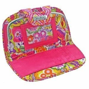 Disney Parks Exclusive Vera Bradley Mickey Bouncing Bouquet Kiss and Snap Wallet Clutch Pink Yellow