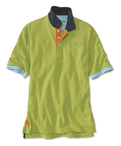 e Polo Contrast-Trim Shirt, Lime, Xx Large ()
