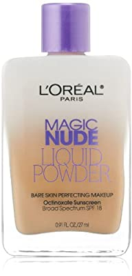 L'Oreal Paris Magic Nude Liquid Powder Bare Skin Perfecting Makeup SPF 18, 0.91 Ounce