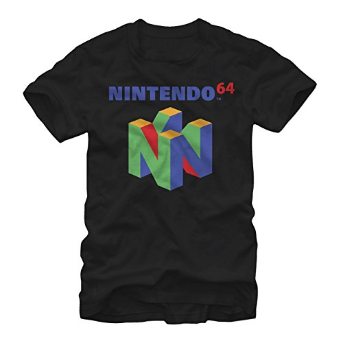 Large Black Classic T-shirt (Fifth Sun Nintendo Men's Classic N64 Black T-Shirt)