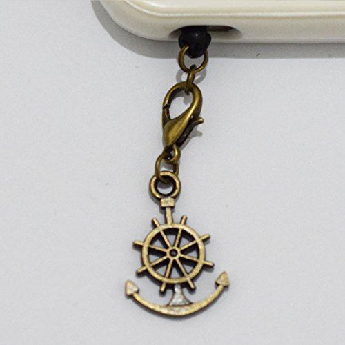 Charm Anchor Rudder Cell Phone Charm, Anchor Rudder Dust Plug-3.5mm, Unique Cell Phone Charm, Headphone Jack Charm , Phone Charm Dust Plug-3.5mm,charm Dust Plug for Iphone 3,iphone4,iphone 4s ,Iphone 5,iphone 5s,iphone 6, Samsung S3,samsung S4, Samsung S5 ,Note 2,note 3, Ipad 2,ipad 3,ipad 4,ipad 5 Nokia,htc One M7, Ipad Mini Dust Plug (Headphone Jack Charms Iphone6 compare prices)