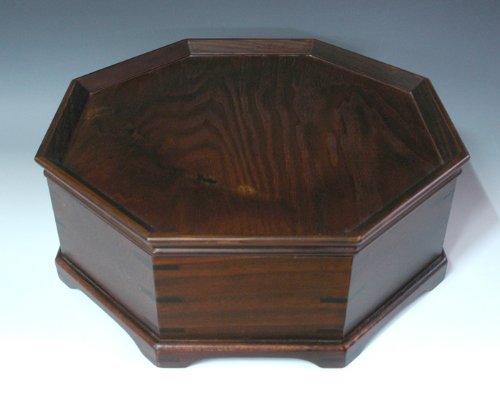 Octagonal Four Compartment Divided Natural Grain Wooden Tea Set Coffee Wine Serving Platter Tray Container Box Storage Holder