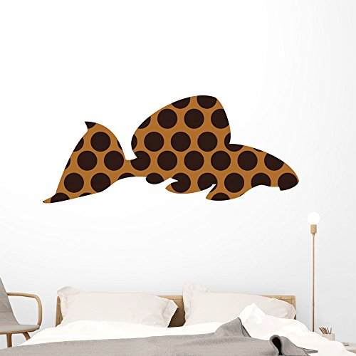 Leopard Pleco Freshwater Aquarium Wall Decal by Wallmonkeys Peel and Stick Graphic (60 in W x 25 in H) WM85535 by Wallmonkeys Wall Decals
