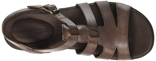 Timberland Branford Fisherman Sandali a punta aperta, Donna, Marrone (Braun (Dark Brown Antique Milled Brunido)), 39 1/2