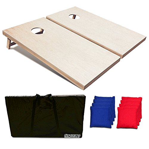 Sports Festival Regulation Size Wooden Cornhole Set (4FT) (Light Coors Case)