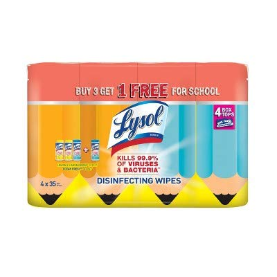 Multi-pack of Lysol disinfecting wipes