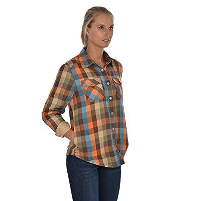 Swiss Alps Womens Checkered Plush Fleece Lined Pocket Front Shirt Jacket at  Women's Coats Shop