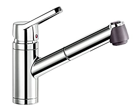 BLANCO Blancoactis-S Kitchen Sink Mixer with Pull-Out Spray, Chrome ...
