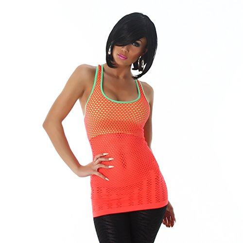 Fashion - Camiseta sin mangas - Básico - Sin mangas - para mujer naranja