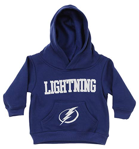 (Outerstuff NHL Infant and Toddler's Fleece Hoodie, Tampa Bay Lightning 2T)