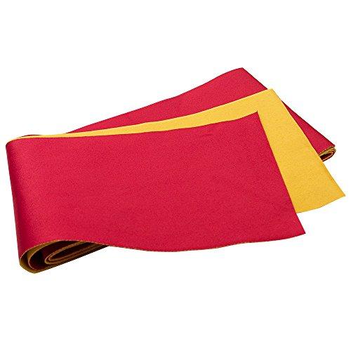 KYOETSU Women's Obi Belt for Yukata Kimono Plain Reversible (Red/yellow) (Reversible Obi)