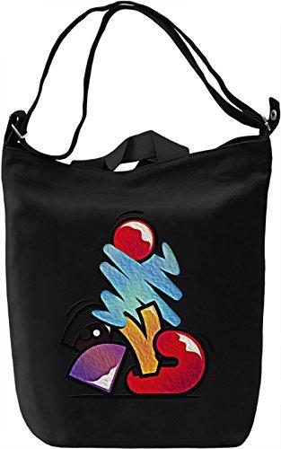 Funky Vibes Borsa Giornaliera Canvas Canvas Day Bag| 100% Premium Cotton Canvas| DTG Printing|