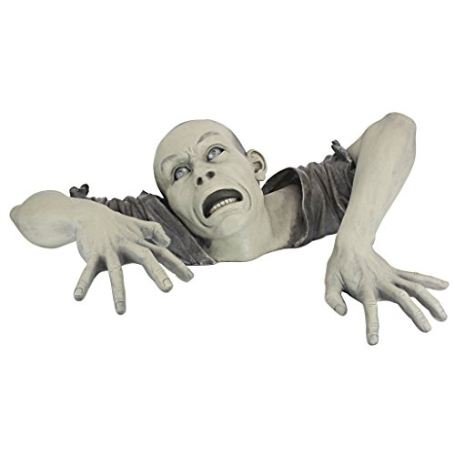 Design Toscano The Zombie of Montclaire Moors Garden Statue Halloween Decoration, 31 Inch, Polyresin, Full Color -