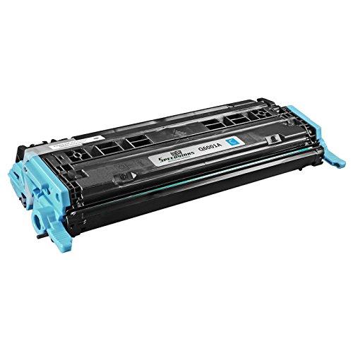 Speedy Inks - Remanufactured Replacement for HP 124A Q6001A Cyan Laser Toner for HP Color LaserJet CM1015mfp, LaserJet CM1017mfp, LaserJet 1600, LaserJet 2600n, LaserJet 2605dn, LaserJet 2605dtn Q6001a Cyan Laser Toner