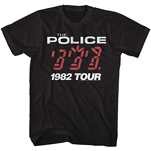The Police British Rock Band 1982 Ghost in The Machine Tour Album T-Shirt Tee Black