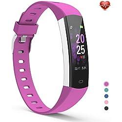 YoYoFit Slim Kids Fitness Tracker Heart Rate Monitor Watch, Kids Activity Tracker Waterproof Pedometer Watch, Digital Kids Alarm Clock Step Calorie Sleep Health Tracker as Best Fitness Gift