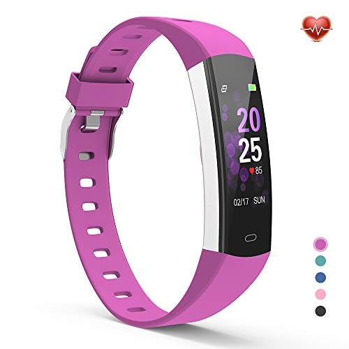 YoYoFit Slim Kids Fitness Tracker Heart Rate Monitor Watch, Kids Activity Tracker Waterproof Pedometer Watch, Digital Kids Alarm Clock Step Calorie Sleep Health Tracker as Best Fitness Gift