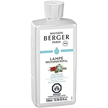 Festive Fir - Lampe Berger Fragrance Refill for Home Fragrance Oil Diffuser - 16.9 Fluid Ounces - 500 milliliters