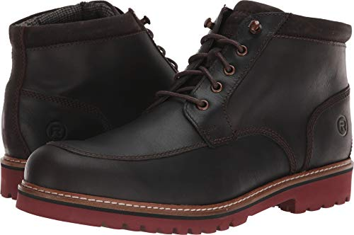 Rockport Men's Marshall Rugged Moc Toe Boot, dark bitter, 6.5 W US ()