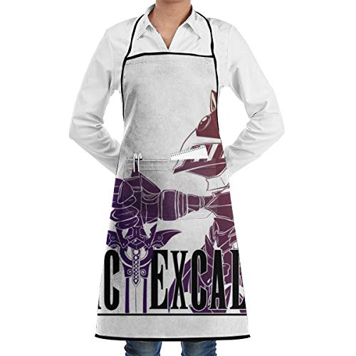 YF150 Snoic Excalibur Unisex Chef Adjustable Polyester Full Aprons Bib with Pockets
